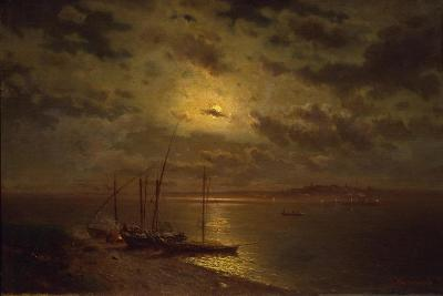 Moonlit Night, 1870S-Lev Lyvovich Kamenev-Giclee Print