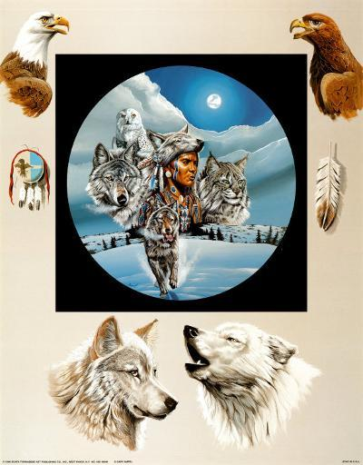 Moonlit Warrior-Gary Ampel-Art Print