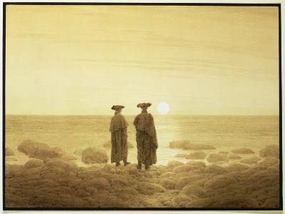 Moonrise, 1835-7-Caspar David Friedrich-Giclee Print