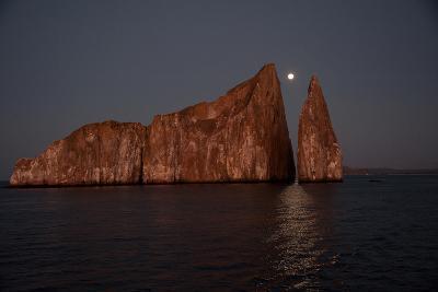 Moonrise Above Sleeping Lion in the Galapagos-Karen Kasmauski-Photographic Print