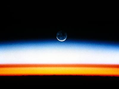 Moonrise Before Sunrise From Orbit, STS-52--Photographic Print