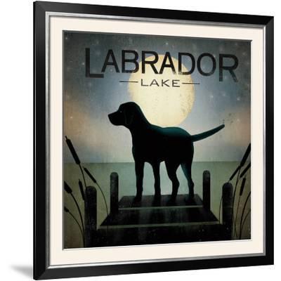 Moonrise Black Dog-Ryan Fowler-Framed Photographic Print