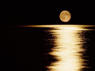 Moonrise, Haro Strait Vancouver-David Nunuk-Photographic Print
