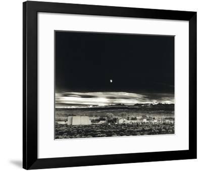 Moonrise, Hernandez-Ansel Adams-Framed Art Print