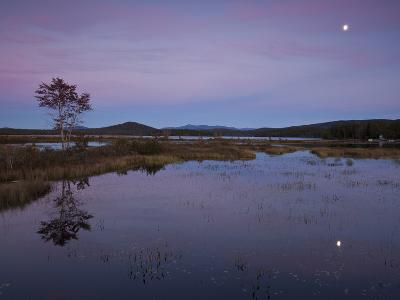 Moonrise over Big Simon Pond-Michael Melford-Photographic Print