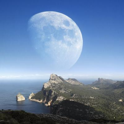 Moonrise Over Mallorca-Detlev Van Ravenswaay-Photographic Print