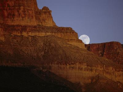 Moonrise over the Grand Canyon--Photographic Print