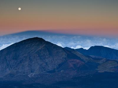 Moonrise over the Haleakala Crater,  Haleakala National Park, Maui, Hawaii.-Ian Shive-Photographic Print