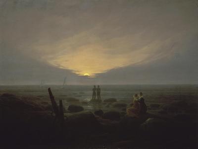 Moonrise over the Sea, c.1821-Caspar David Friedrich-Giclee Print