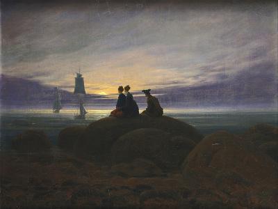 Moonrise over the Sea-Caspar David Friedrich-Photographic Print