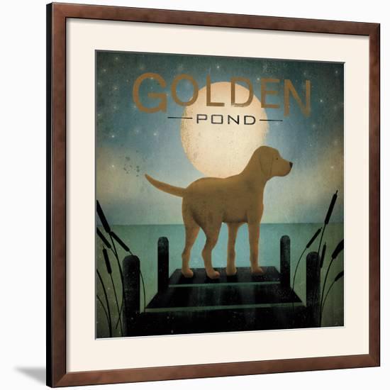 Moonrise Yellow Dog-Ryan Fowler-Framed Photographic Print