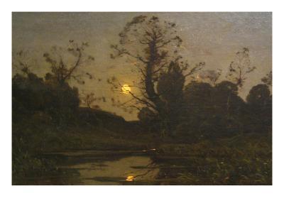 Moonrise-Henri-Joseph Harpignies-Art Print