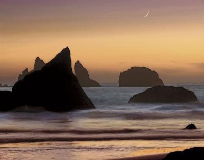 Moonset-Mike Jones-Art Print