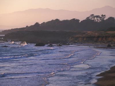 Moonstone Beach, Cambria, Napa Valley, California-Nik Wheeler-Photographic Print