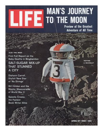 Moonsuit Being Tested, April 27, 1962-Fritz Goro-Photographic Print