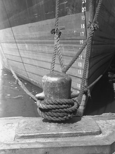 Moored Boat, Close-Up-George Marks-Photographic Print