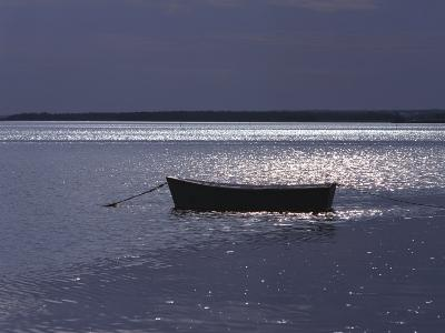 Moored Boat in the Moonlight, Nova Scotia-Keith Levit-Photographic Print