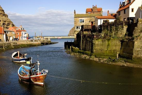 Moored Boats in Staithes; North Yorkshire, England, Uk-Design Pics Inc-Photographic Print