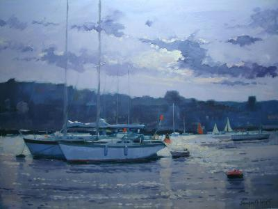 Moored Yachts, Late Afternoon-Jennifer Wright-Giclee Print