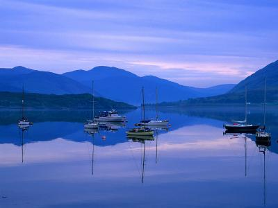 Moored Yachts on Loch Broom, Ullapool, Scotland-Grant Dixon-Photographic Print