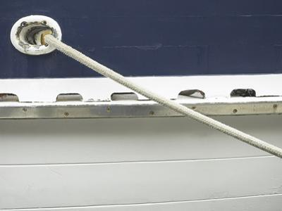 Mooring Rope on Side of Boat