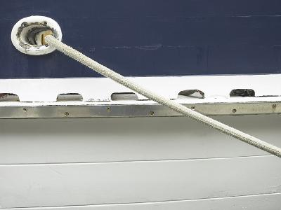 Mooring Rope on Side of Boat--Photographic Print