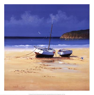 Moorings Low Tide-David Short-Art Print