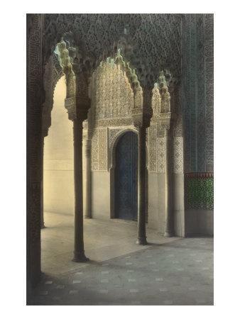 Moorish Arches, Alhambra, Granada, Spain--Art Print