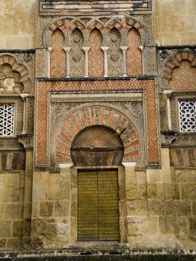 Moorish Architectural Detail of the Mezquita in Cordoba, Spain-Scott Warren-Photographic Print