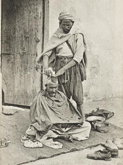 Moorish Barber - Algeria--Photographic Print