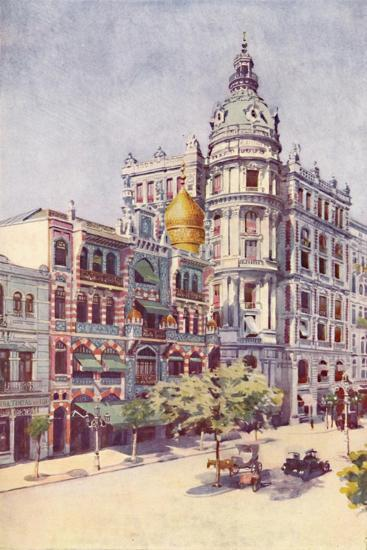 'Moorish Building and Messrs. Guinles Offices, Avenida Rio Branco', 1914-Unknown-Giclee Print