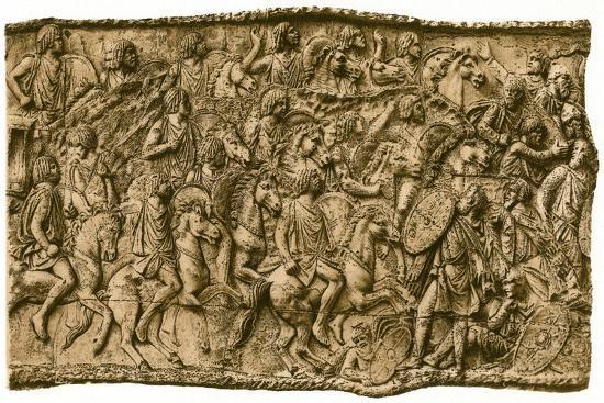 Moorish calvalry under Lusius Quietus fighting against the Dacians, (1902). Artist: Unknown-Unknown-Giclee Print