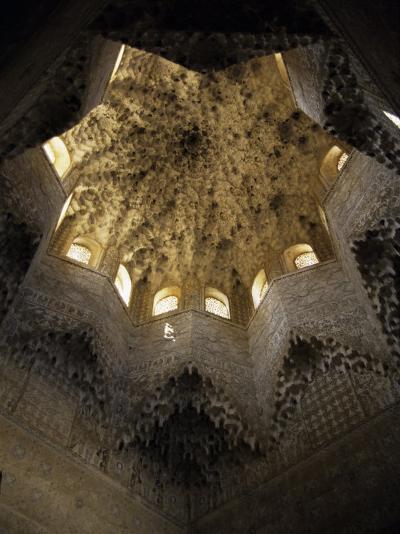 Moorish Ceiling, Alhambra Palace, Unesco World Heritage Site, Granada, Andalucia, Spain-Christopher Rennie-Photographic Print