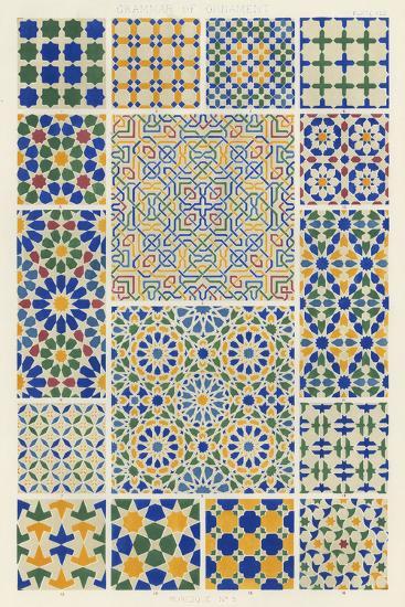 Moorish Design-Owen Jones-Art Print