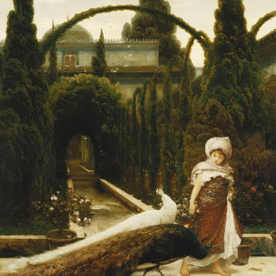 Moorish Garden; a Dream of Granada-Frederick Leighton-Premium Giclee Print