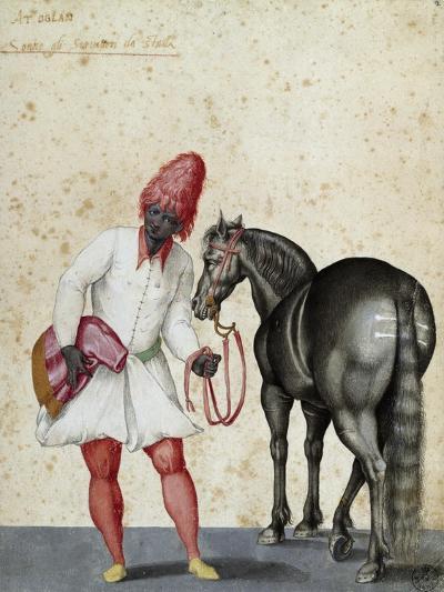 Moorish Knight and Horse-Jacopo Ligozzi-Giclee Print