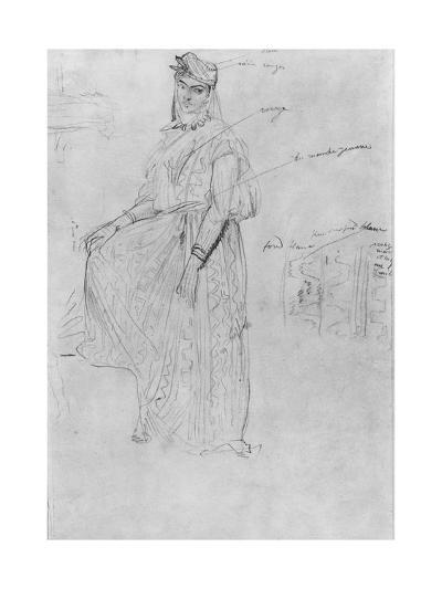 Moorish Woman-Theodore Chasseriau-Giclee Print