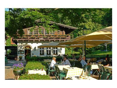 Moorlake, popular tourist cafe at the Havel River, Berlin, Germany--Art Print