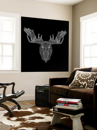 Moose Head Black Mesh-Lisa Kroll-Wall Mural
