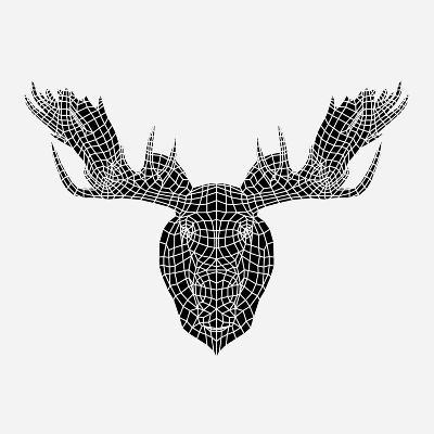 Moose Head Mesh-Lisa Kroll-Art Print