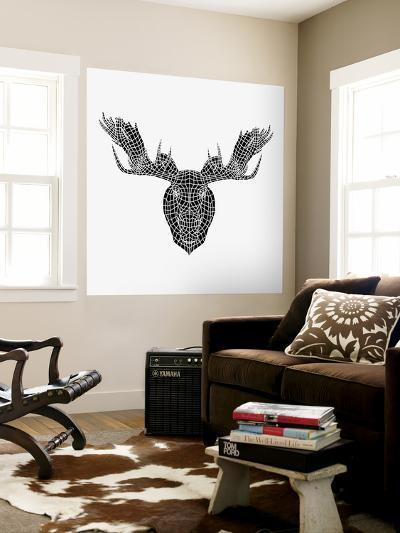 Moose Head Mesh-Lisa Kroll-Wall Mural