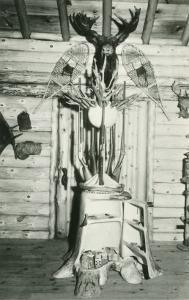 Moose Head, Snowshoes, Trunk Cabinet