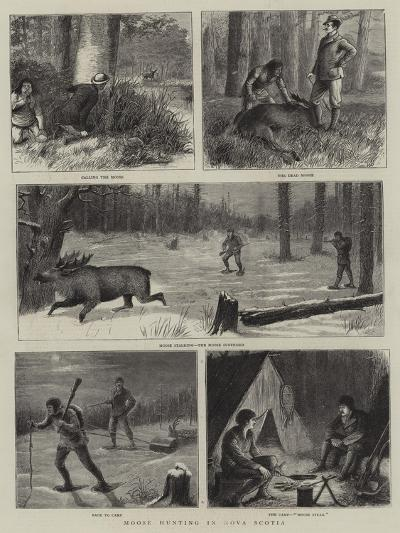 Moose Hunting in Nova Scotia-William Ralston-Giclee Print