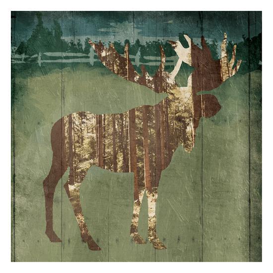 Moose In The Field-OnRei-Art Print
