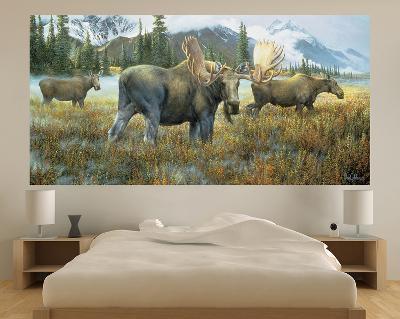 Moose (Indoor/Outdoor) Vinyl Wall Mural--Wall Mural