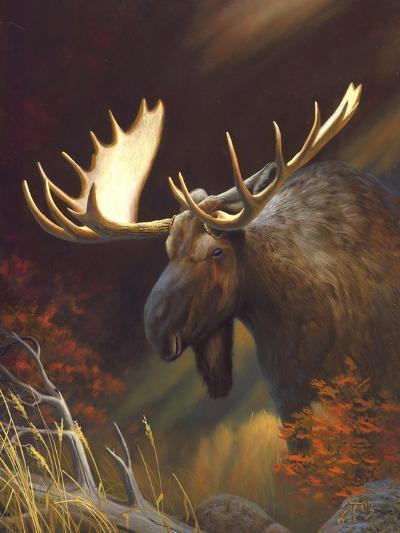 Moose Portrait-Leo Stans-Art Print