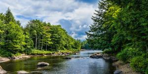 Moose River in the Adirondack Mountains, New York State, USA