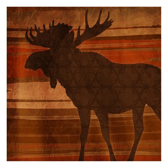 Moose Stripes-Jace Grey-Art Print