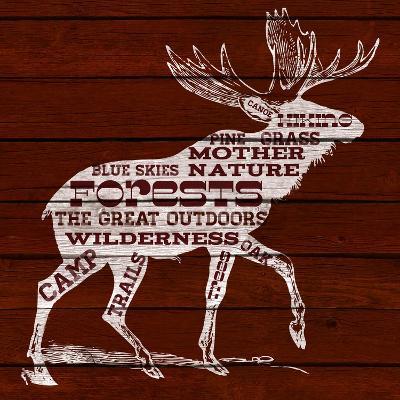 Moose Text--Premium Giclee Print