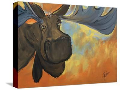 Moose-Terri Einer-Stretched Canvas Print